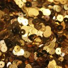 5mm Flat SEQUIN PAILLETTES ~ GOLD Metallic ~ Round Disc ~ Made in USA.