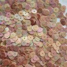 6mm Flat SEQUIN PAILLETTES ~ BEIGE Opaque RAINBOW IRIS IRIDESCENT ~ Made in USA
