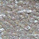 8mm Cup Sequins Facet Paillette  Beige Dk Ivory Opaque Iris Rainbow  Made in USA