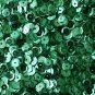 8mm Cup SEQUIN FACET PAILLETTES ~  TEAL PEACOCK Metallic ~ Made in USA