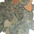 """Navette Leaf Sequin 1.5"""" Green Pine Leaf Bough Gold Metallic"""