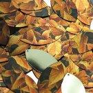 """Navette Leaf Sequin 1.5"""" Gold Orange Coleus Foliage Leaf Metallic"""