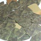 "Fishscale Fin Sequin 1.5"" Green Pine Leaf Bough Gold Metallic"