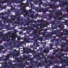 4mm Cup Sequins Loose Paillettes ~ Deep Purple Shiny Metallic ~ Made in USA