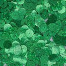 Flat SEQUIN 10mm Loose PAILLETTES ~ GREEN Laser MULTI  HOLOGRAM Reflective