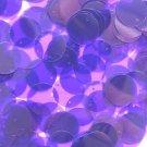 20mm Sequins Purple Violet Transparent See-Thru. Made in USA