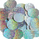 Silver Lazersheen Mosaic Sequin Round 1.5 inch Large Couture Paillettes