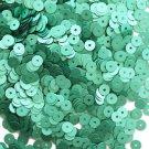 5mm Flat SEQUIN PAILLETTES ~ Light GREEN Matte SILK FROST ~ Made in USA.