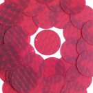 3D Red Sequin Round 30mm Dimensional Reflector Paillettes. Made in USA.
