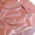 Pink Navette Leaf Sequins Shiny Metallic 1.5 inch Couture Paillettes