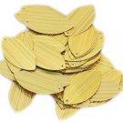 "Gold City Lights Metallic Navette Leaf 1.5"" Couture Sequin Paillettes."