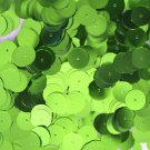 10mm Flat SEQUIN PAILLETTES ~ LIME GREEN Metallic ~ Round Disc ~ Made in USA.