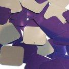 Purple Silver Metallic Shiny Sequin Square 30mm ( 1.25 inch ) Couture Paillettes