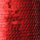 SEQUIN STRING TRIM ~ RED METALLIC ~ 6mm FLAT strung by the yard  Made in USA