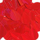 Red Sequins City Lights Teardrop 1.5 inch Reflective Couture Paillettes