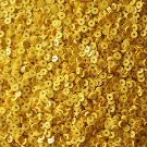 3mm Flat SEQUIN PAILLETTES ~ Opaque Rich YELLOW ~ Made in USA.