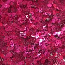 3mm Flat SEQUIN PAILLETTES ~ Hot Pink FUCHSIA Metallic ~ Made in USA.