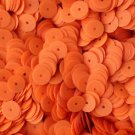 8mm Flat SEQUIN PAILLETTES ~ Opaque NEON FLUORESCENT ORANGE ~ Made in USA.