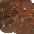 Bronze Brown Metallic Navette Leaf Sequins 1.5 inch Couture Paillettes Made in U
