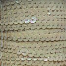 Lt Opaque Beige Rainbow 5mm cup Sequin Trim Flat Stitched Strung by yard 15'