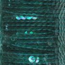 "Crystal Emerald Iris Sequin Trim 6mm 1/4"" wide stitched, strung by the yard 15'"