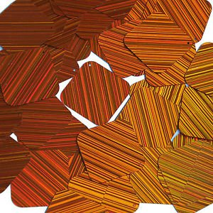Orange Sequins City Lights Square Diamond 1.5 inch Reflective Couture Paillettes