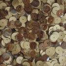 10mm Flat SEQUINS PAILLETTE ~ Shiny Dark BROWN WOOD GRAIN Effect ~ Made in USA