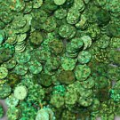 Green Sequin 8mm Flat PAILLETTE ~ GRASS GREEN Laser MULTI  HOLOGRAM ~Made in USA