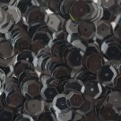 8mm Cup SEQUIN FACET PAILLETTES ~ Opaque BLACK Shiny ~ Made in USA