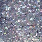 8mm Cup Sequins Facet Paillette ~ Pale Blue Crystal Iris Rainbow ~ Made in USA