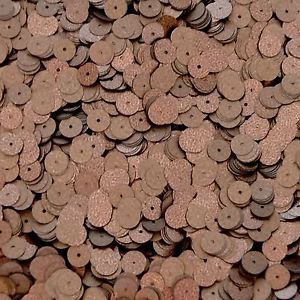 8mm Sequins Round Flat Speckle Bronze Brown Matte Silk Frost.  Loose Paillettes.