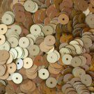 6mm Flat SEQUIN PAILLETTES ~ GOLD Matte SILK FROST ~ Round Disc ~ Made in USA