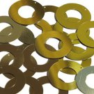 Gold Metallic Shiny Sequin Circle Donut 1.5 inch Large Couture Paillettes