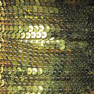 Sequin Stitched Trim 4mm ~ Yellow Shiny Metallic ~ Made in USA