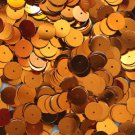 10mm Flat Loose SEQUINS PAILLETTES ~ Metallic ORANGE ~ Round Spangle