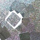 "Silver Hologram Multi Fleck Rounded Square Diamond 1.5"" Couture Sequin Paillette"