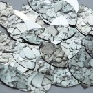 "Navette Leaf Sequin 1.5"" Gray Stone Rocks Pebbles Gravel Silver Metallic"