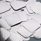 "Square Diamond Sequin 1.5"" Pink Silver Chevron Zig Zag Pattern Metallic"