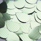 "Teardrop Sequin 1.5"" Lime Green Silver Chevron Zig Zag Pattern Metallic"