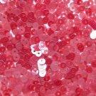 4mm Flat SEQUIN PAILLETTES Loose ~ Coral Orange-Pink Luster Transparent See Thru