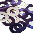 Purple Silver Metallic Sequin Circle Donut 1.5 inch Large Couture Paillettes