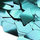Teal Blue Green Metallic Sequins Long Diamond 1.75 inch Couture Paillettes