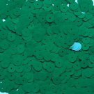 8mm flat Sequin Loose Paillettes Opaque Green Made in USA