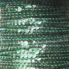 Sequin Stitched Trim 4mm ~ Deep Green Transparent See-Thru ~ Made in USA