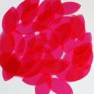 Pink Fluorescent Transparent Navette Leaf Sequins 1.5 inch Couture Paillettes