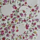 20mm Round SEQUIN PAILLETTES ~ Spring Flowers Petite Fleur Floral Print on White