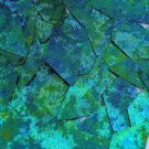 Blue Green Sequin Long Diamond Van Gogh Starry Night 1.75 inch Couture Paillette