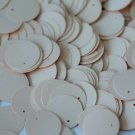 20mm Round Sequin Loose Paillette ~ Opaque Ivory Bone ~ Made in USA