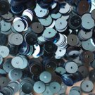 6mm Flat SEQUIN PAILLETTES ~ Light BLUE Metallic ~ Round Disc ~ Made in USA