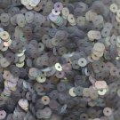 4mm Flat SEQUIN PAILLETTES ~ SILVER GRAY SMOKE FROST Rainbow Iris ~ Made in USA.